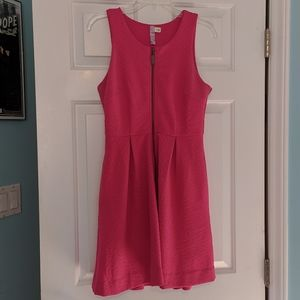 Alya Anthropologie pink zip front dress S